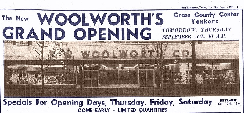 Westchester #TBT When There Was a Woolworths at Cross County