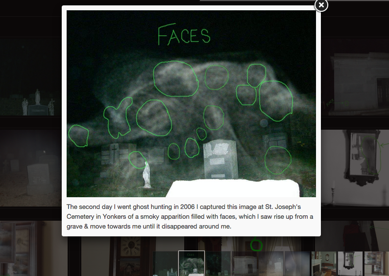 Here is where Yonkers Ghost Investigators found faces within the apparition - Credit: Screen Shot from YGI's website